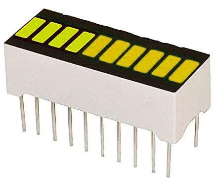Bargraf SHB10Y, 10x LED, žlutý