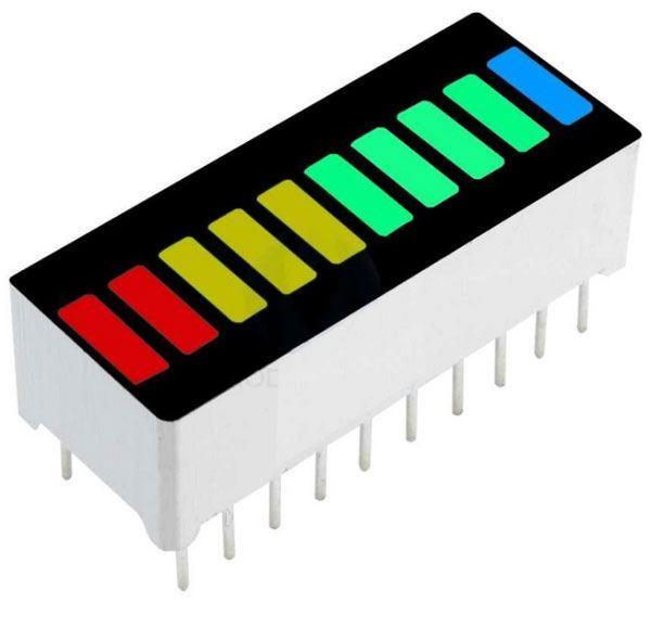 Bargraf HS2R3Y4PG1B, 10x LED, modrý-zelený-žlutý-červený