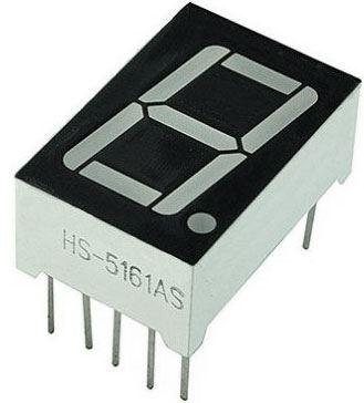 Displej LED 5161BS 8. červený, společná anoda