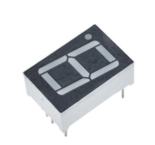 Displej LED 8011BK, 8. červený, společná anoda, (27,7x20mm)