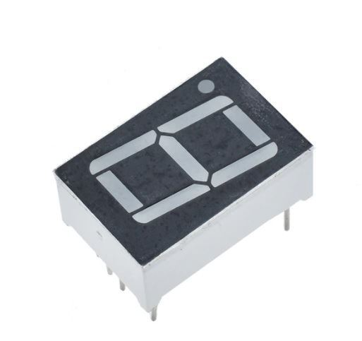 Displej LED 8011BB, 8. modrý, společná anoda, (27,7x20mm)