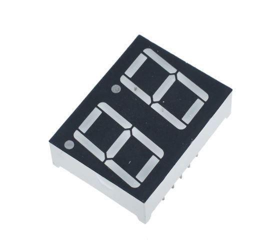 Displej LED 220801B, 8.8. modrý, společná katoda, (35,8x25,8mm)