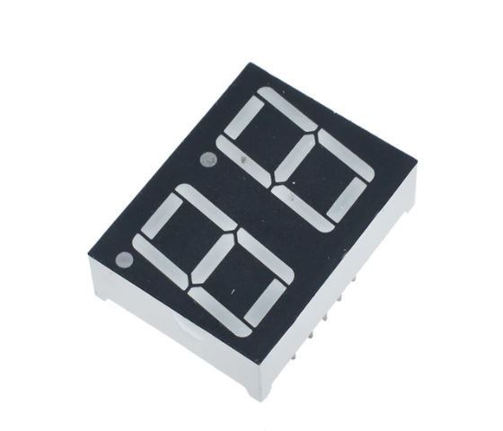 Displej LED 210801B, 8.8. modrý, společná anoda, (35,8x25,8mm)