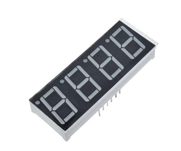Displej LED YZ410801B-32, 8.8.8.8. modrý, společná anoda, 71,6x25,7mm