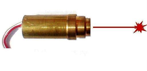 Laser s optikou 5mW 2,6V/20-40mA 670nm