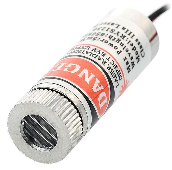 Laser s optikou 5mW 3V 650nm, červená linka