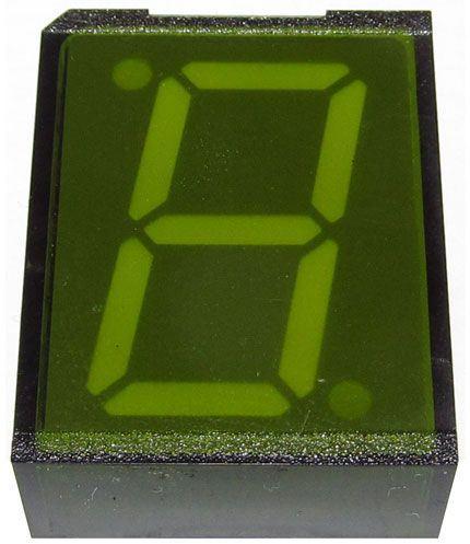 VQB27D zobrazovač 8., zelený, RFT