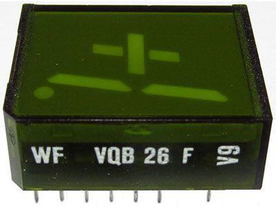 VQB26F zobrazovač +1., zelený, RFT