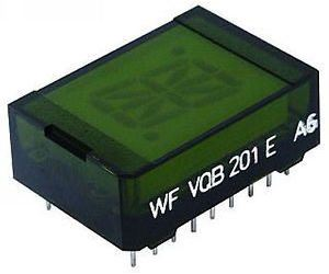 VQB201C zobrazovač 16.segment, zelený, RFT