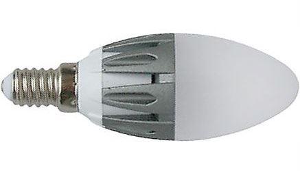 Žárovka LED E14 C35 svíčková,teplá bílá, 230V/4W