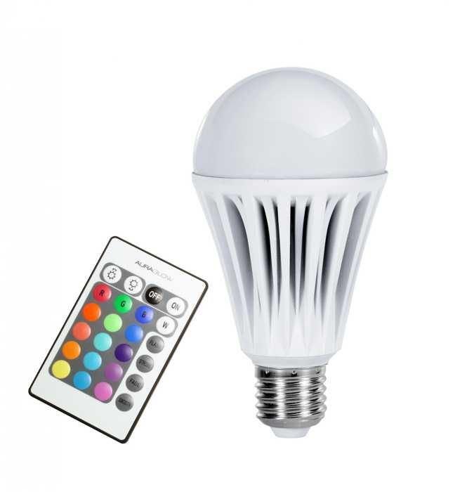 LED žárovka RGB E27 3W, dálkové ovládání