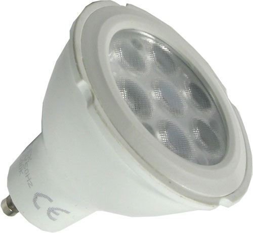 Žárovka LED GU10, 7xSMD2835, 230V/7W, teplá bílá, stmívatelná