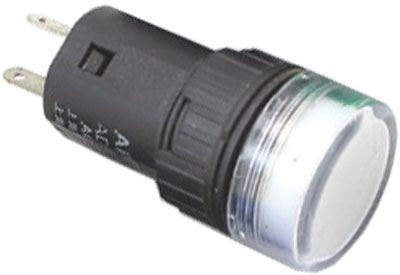 Kontrolka 12V LED 19mm, bílá