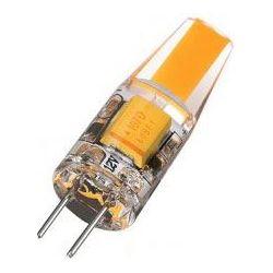 Žárovka LED G4 teplá bílá, 12V/ 2W, COB, silikonový obal