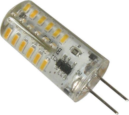Žárovka LED G4 teplá bílá, 12V/2W, 48x SMD3014, silikonový obal