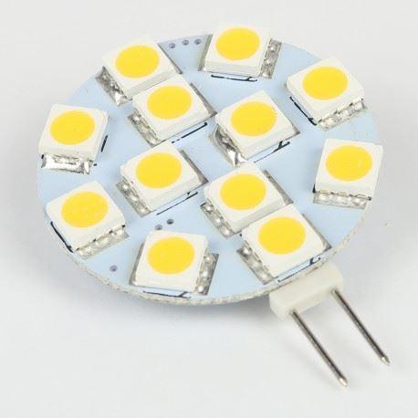 Žárovka LED G4, 12xSMD bílá teplá, 12V/2W