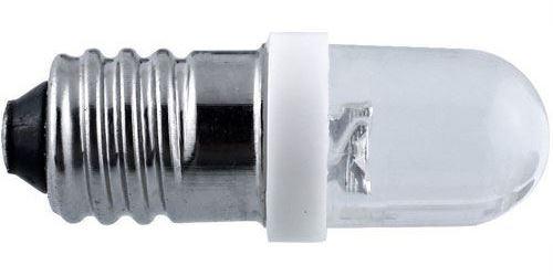 Žárovka LED E10 bílá 24V / 0,7W