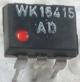 WK16415-1 optočlen, CTR 0,1...6 DIP6 červená tečka