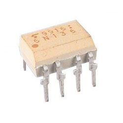 6N136 optočlen s tranzistorem,  2,5kV, CTR19-50%, DIP8