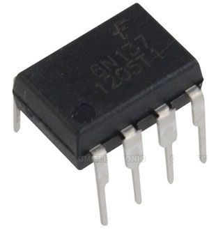 6N137 optočlen s tranzistorem,  2,5kV, CTR700%, DIP8