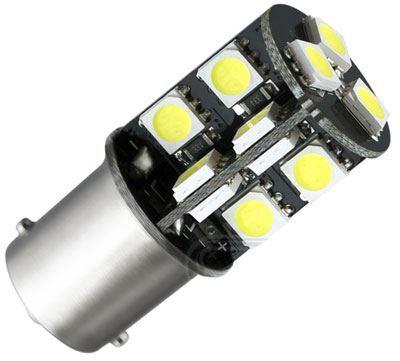 Žárovka LED Ba15S 12V /3,5W, bílá,CANBUS, 19xSMD5050