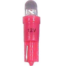 Žárovka LED T5 12V/0,25W červená