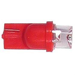 Žárovka LED T10 12V/0,25W červená