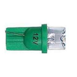 Žárovka LED T10 12V/0,25W zelená