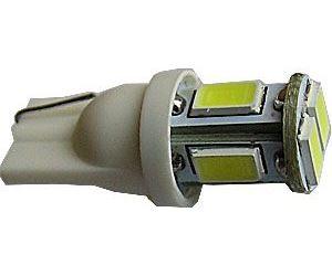 Žárovka LED T10 12V/2,5W bílá, 6xSMD5630