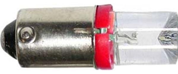 Žárovka LED Ba9S 12V/0,25W červená