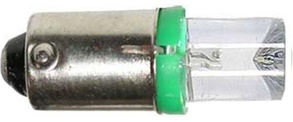 Žárovka LED-1x Ba9S 12V/0,25W zelená