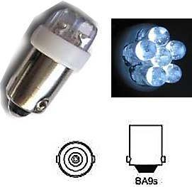 Žárovka LED-6x Ba9S 12V/0,5W bílá