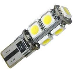 Žárovka LED T10 12V/2,3W ,bílá, CANBUS, 9xSMD5050