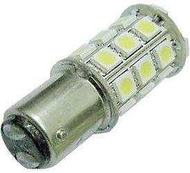 Žárovka LED BaY15D 12V/4W, bílá, brzdová/obrysová, 27xSMD5050