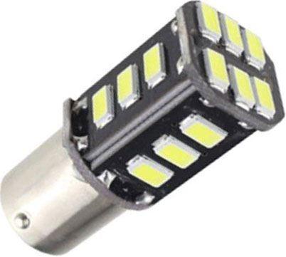 Žárovka LED BaY15D 12V /3W, bílá,CANBUS, 18xSMD5730