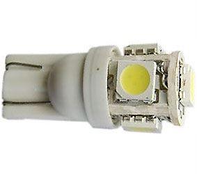 Žárovka LED T10 12V/1,5W bílá, 5xSMD5050