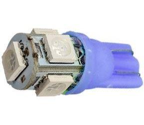 Žárovka LED T10 12V/1,5W modrá, 5xSMD5050