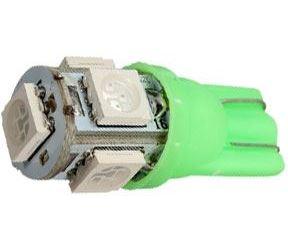 Žárovka LED T10 12V/1,5W zelená, 5xSMD5050