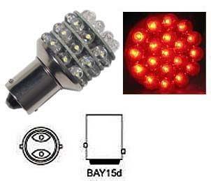 Žárovka LED-36x BaY15D 12V červ.brzdová/obrysová