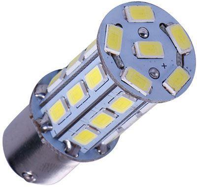 Žárovka LED BaY15D (brzd/obrys) 12V/6W bílá, 27xSMD5730