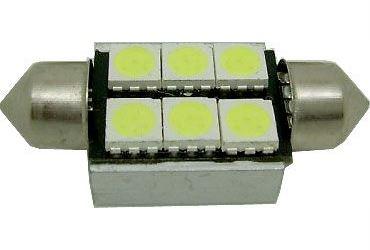 Žárovka LED SV8,5-8 sufit, 12V/2W bílá,CANBUS, délka 36mm
