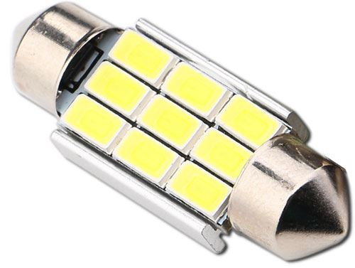 Žárovka LED SV8,5-8 sufit, 12V/3W, 9xLED5730, bílá, CANBUS, délka 36mm