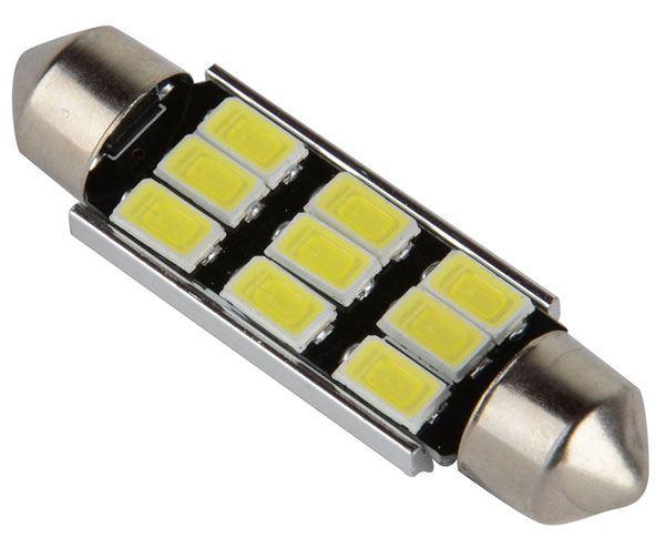 Žárovka LED SV8,5-8 sufit, 12V/3W, 9xLED5730, bílá, CANBUS, délka 42mm