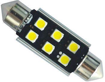 Žárovka LED SV8,5-8 sufit, 12-24V, 6xLED3030, bílá, CANBUS, délka 39mm