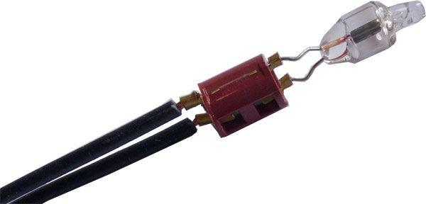 Doutnavka 230V, kapka 6x12mm s odporem a přívody