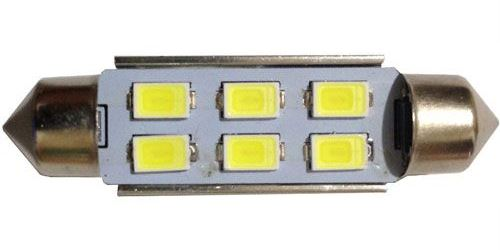 Žárovka LED SV8,5-8 sufit 39mm 12V/2W bílá, 6xLED5730