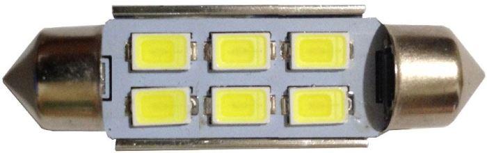 Žárovka LED SV8,5-8 sufit 36mm 12V/2W bílá, 6xLED5730
