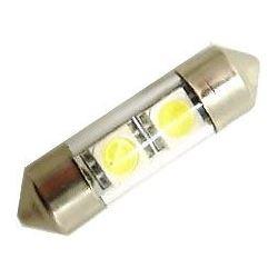 Žárovka LED SV8,5-8 sufit 31mm 12V/1W bílá, 2xSMD5050