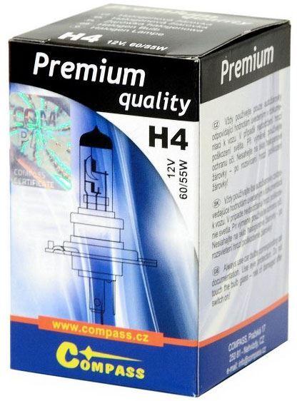 Žárovka halogen H4 12V 60/55W,Compass Premium, patice P43t