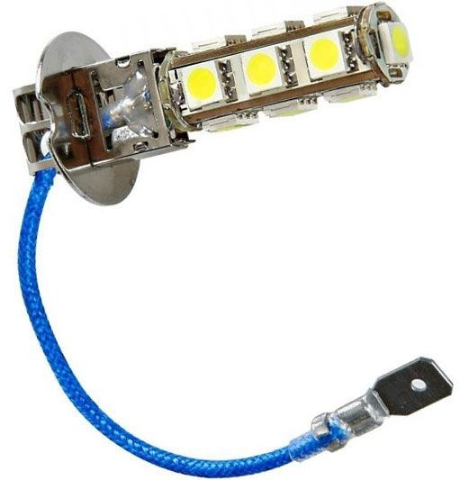 Žárovka LED H3 12V/3W bílá, 13xSMD5050